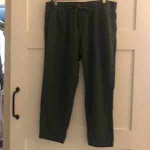 Old navy linen pants size L olive green